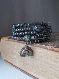 Queen Bee Bracelet Memory Wire DIY inspiration.