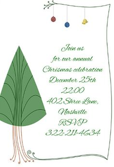 free printable christmas invitations template | Printables ...
