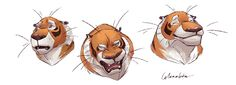 have not been uploading a lot recently :/ a peak of the tiger expressions I& working on Dreamworks, Celine, Character Design, Bee, Animation, Card Designs, Illustration, Artist, Sketch