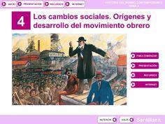 Tema 4: Los cambios sociales. Orígenes y desarrollo del movimiento obrero by José Antonio Arjona Muñoz via slideshare