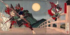 View Yoshitsune and Benkei fighting on Gojo Bridge triptych by Tsukioka Yoshitoshi on artnet. Browse upcoming and past auction lots by Tsukioka Yoshitoshi. Art Japonais, Philadelphia Museum Of Art, Art Database, Japanese Painting, Japanese Prints, Japanese Style, Japan Art, Triptych, Japanese Culture