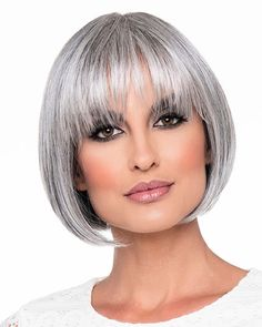 Are you looking for great wigs casual style online? Cheapest Monofilament Remy Human Hair Straight Chin Length Grey Wigs look real, here are soft wigs for women. Frontal Hairstyles, Short Bob Hairstyles, Wig Hairstyles, Chin Length Hairstyles, Remy Human Hair, Human Hair Wigs, Best Wig Outlet, Wilshire Wigs, Natural Hair Styles