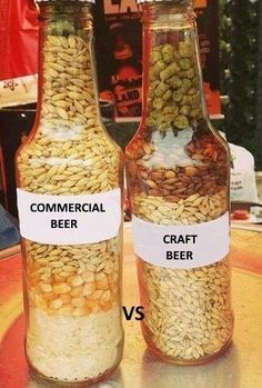 Commercial vs Craft Beer | Saved by https://mancan.beer