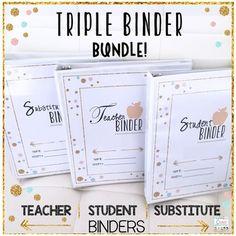 Teacher Binders (Editable)