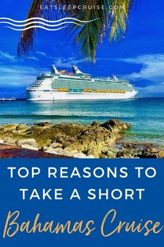 Sometimes you need to get away, but you may not have the time or cash for a vacation. That's why we give you our top reasons to take a short Bahamas Cruise. Bermuda Vacations, Bahamas Vacation, Bahamas Cruise, Packing List For Cruise, Cruise Travel, Cruise Vacation, Cruise Excursions, Cruise Destinations, Short Cruises