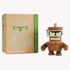 Futurama: Wooden Bender 6-Inch Figure - Futurama - Mini-Figures - Category