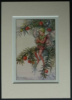 The Yew Fairy by Cicely Mary Barker 1926 print  by PrimrosePrints, £20.00