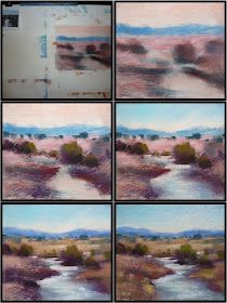 Painting my World: Pastel Demo Monday: New Mexico Landscape