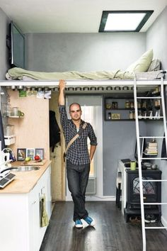 Small room design can be difficult if you've never worked with a small space before. However, small room design can … Tiny Spaces, Small Rooms, Small Apartments, Small Beds, Bedroom Small, Open Spaces, Small Small, Studio Apartments, Loft Spaces