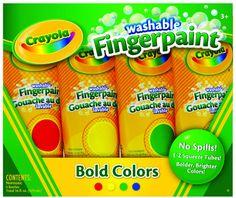 Crayola Washable Finger Paints Primary Colors. #crayola ❤️