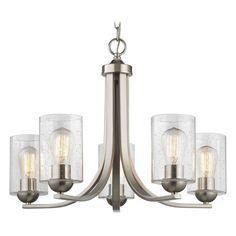 Design Classics Lighting Design Classics Dalton Fuse Satin Nickel Chandelier 584-09 GL1041C $214.70