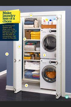 Laundry Closet. Long-term idea if I get front loaders?