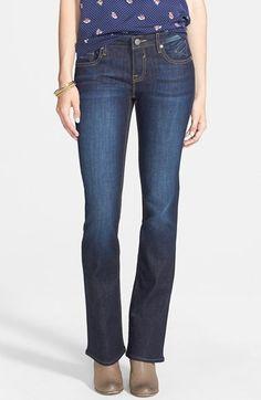 Vigoss 'New York' Flap Pocket Bootcut Jeans (Dark Wash) available at #Nordstrom