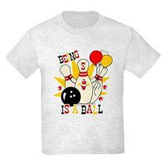 Delightful CafePress Kids Light T Shirt   Cute Bowling Pin 5th Birthday Kids Light T