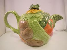 Fitz and Floyd Vegetable Garden Ceramic Teapot by BarbsFinds4You