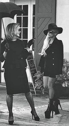 American Horror Story Season 5 Hotel - Jessica Lange and Lady Gaga
