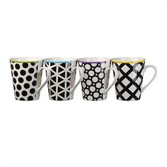 Briscoes - Hampton & Mason Cool Black Mugs 330ml Set of 4