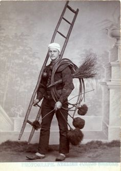 Chimney sweep, Paris.