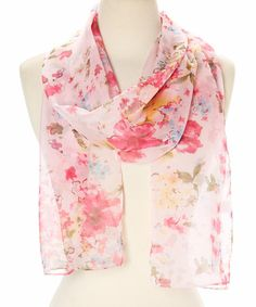 Another great find on #zulily! Pink Misty Flower Scarf by Modadorn #zulilyfinds