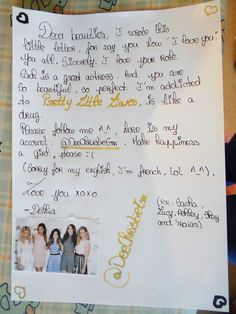 For Sasha Pieterse, Troian Bellisario, Lucy Hale, Shay Mitchell and Ashley Benson, from Délhia (@DeeChristieEm)