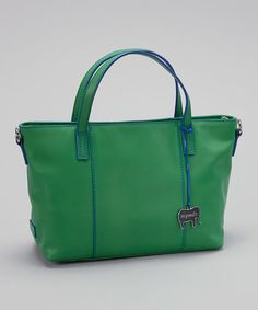 Take a look at this Green Grab Handle Tote by Mywalit on #zulily today! $110 !!