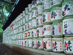 Outside Meiji Jingu...oh god there's so much! Emperor Meiji wouldn't mind if I took just one barrel would he? (Photo by Bannister Bergen)