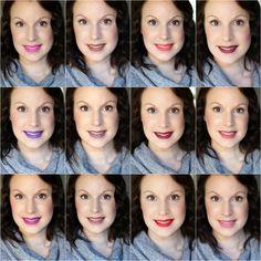 NYX Slip Tease Liquid Lipsticks Swatch Collage