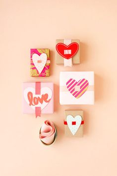 DIY Heart Gift Toppers