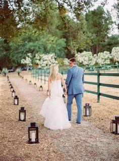 So romantic: http://www.stylemepretty.com/2015/03/03/rustic-neutral-colored-california-wedding/ | Photography: Danielle Poff - http://www.daniellepoff.com/