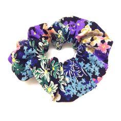 Floral Scrunchie-£3 #prettytwisted #accessories #scrunchie http://prettytwistedonline.co.uk/product/floral-scrunchie-9/