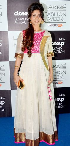 Tanishaa at the Lakme Fashion Week Winter/Festive 2014 Day 3. #Bollywood #Fashion #Style #Beauty