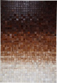 modernrugs.com Leather Cowhide Gradient Ombre Mosaic Modern Design Rug