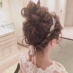 bridal hair✳︎ 明日の夜に5月6月のセミナー告知します☺️ ・ ・ ・ #ブライダルヘア #プレ花嫁 #ウェディングドレス #weddingdress #bridalhair #bridal #updo Lace Wedding, Wedding Dresses, Pictures, Fashion, Bride Gowns, Photos, Wedding Gowns, Moda, La Mode
