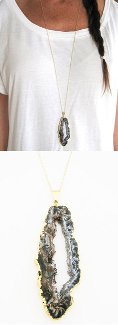 Classic Sliced Agate Necklace