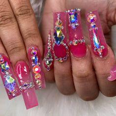 Fancy Nails, Bling Nails, Texas Nails, Exotic Nails, Nail Tech, Nails Inspiration, Acrylic Nails, Barbie, Make Up