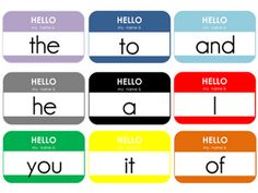 sight word name tag game ... Would be fun to give each kid a name tag and let them run loose making sentences.