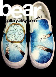 0223d07fc1 Custom Painted Dreamcatcher Vans Shoes - Hand Painted Dream Catcher -  Dreamcatcher Shoes