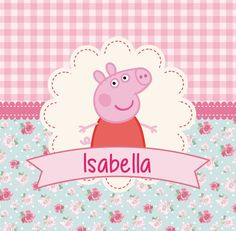 kit imprimible peppa pig personalizado! candy bar + cotillón