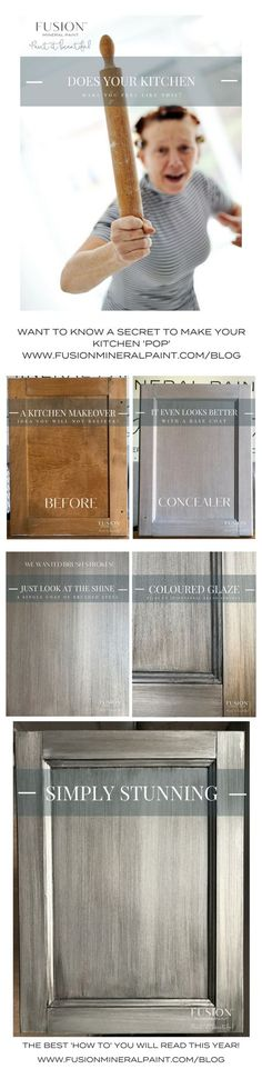Kitchen Make over made easy with Fusion Mineral Paint. DIY your own kitchen with Fusion Mineral Paint!