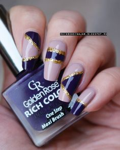 Josephine's World: Nude nails with a twist: Golden Rose Rich Color 05