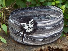 Fabric Clothesline Bowl w/ Lace & Vintage Accent by BossyLittleSister on Etsy https://www.etsy.com/listing/239680797/fabric-clothesline-bowl-w-lace-vintage