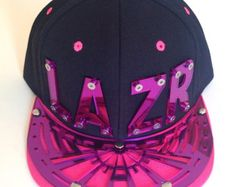 Custom Word or Graphic Snapback Hat // Laser Cut Acrylic Lettering or Bill Design