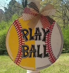 Large Softball Baseball Wood Door Hanger Wall Decor Sign Name Baseball Door Hanger Letter Door Hanger Play Ball Door Hanger Letter Door Hangers, Wooden Door Hangers, Wooden Doors, Wooden Signs, Softball Gifts, Softball Stuff, Inspiration Quotes, Daily Inspiration, Wreath Crafts