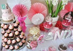 Candy Buffet and Cupcake Tower
