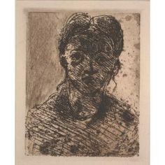 Head of a Young Girl, Paul Cezanne, Etching, Dallas Museum of Art, gift of Mr. Alfred L. Paul Cezanne, Cezanne Art, Vintage Wall Art, Vintage Walls, Macabre, View Image, Artsy Fartsy, Auction, Museum