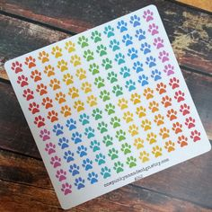 New to OnePunkyMamaDesign on Etsy: Rainbow Paw Print Stickers for Erin Condren Life Planner (ID262) (4.50 USD)