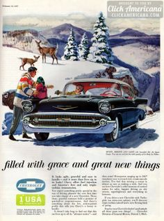 Sweet, smooth & sassy: Chevy's Bel Air Sport Coupe (1957)  Read more at http://clickamericana.com/eras/1950s/1957-chevy-bel-air-sport-coupe | Click Americana
