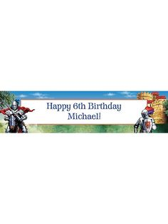 MEDIEVAL KNIGHT PERSONALIZED BANNER