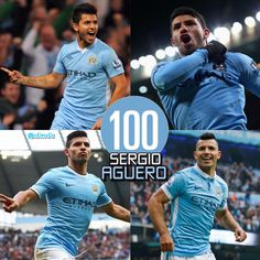 Sergio scored his100th Premier League goal for City at Newcastle 19/4/16 #mcfc #aguero