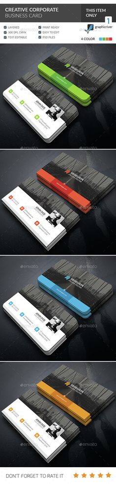 Creative Corporate Business card — Photoshop PSD #red #creative • Available here → https://graphicriver.net/item/creative-corporate-business-card-/15285483?ref=pxcr